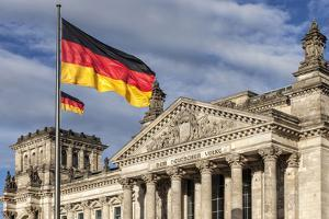 The Reichstag Was Built in 1894 as the German Parliament. Berlin, Germany. by David Bank