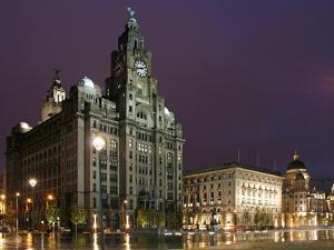 The Royal Liver Building Is a Grade I Listed Building Located in Liverpool, England, Pier Head by David Bank