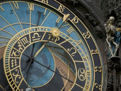 Astronomical Clock on Old Town Hall, Prague, Czech Republic by David Barnes