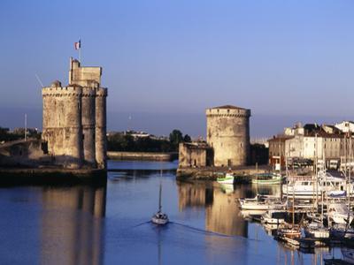 Boats, Vieux Port, Tour Saint-Nicolas, Tour De La Chaine, La Rochelle, France by David Barnes