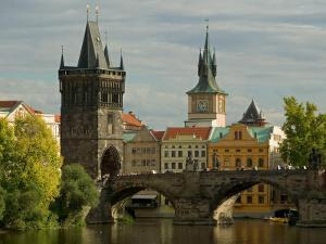 Charles Bridge and Old Town Bridge Tower, Prague, Czech Republic by David Barnes