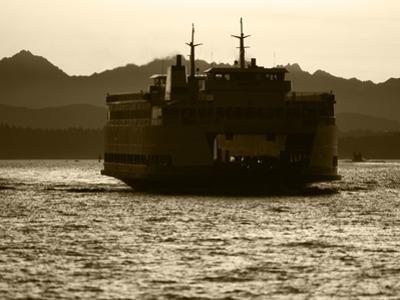 Ferry Boat at Sunset, Washington, USA by David Barnes