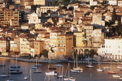 France, Villefranche-Sur-Mer, Cote D'Azur, Town and Harbor by David Barnes