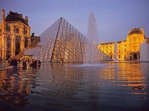 Louvre Pyramid, Paris, France by David Barnes
