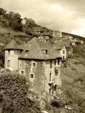 Medieval Houses, Aveyron, Conques, France by David Barnes