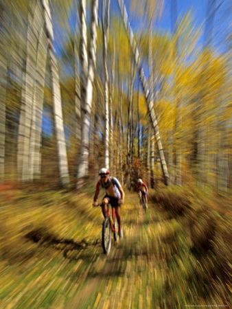 Mountain Bike Race, Methow Valley, Washington State, USA by David Barnes