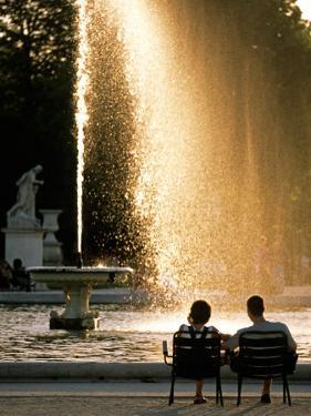 Tuileries Garden Fountain, Paris, France by David Barnes