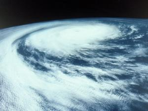 Hurricane Viewed from Outer Space by David Bases