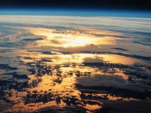 View of Sunset from Space Shuttle by David Bases