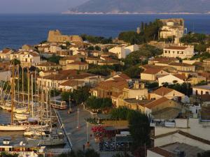 Aerial View over Pythagorion, Samos, North Aegean Islands, Greek Islands, Greece, Europe by David Beatty