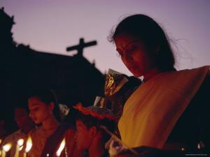 Christian Devotee, St. Francis Xavier Exposition, Goa, India by David Beatty