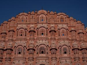Detail of the Facade of the Palace of the Winds, Jaipur, Rajasthan, India by David Beatty