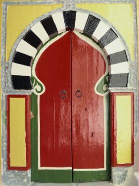 Door to the Hamman, Medina, Tunis, Tunisia, North Africa, Africa by David Beatty
