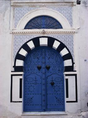 Doorway, Sidi Bou Said, Tunisia, North Africa, Africa by David Beatty