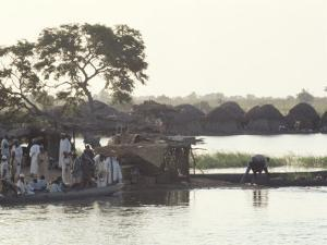 Early Morning River Scene, Northern Area, Nigeria, Africa by David Beatty