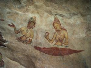 Frescoes of Cloud Maidens on the Rock at Sigiriya, Dating from the 5th Century AD, Sri Lanka by David Beatty