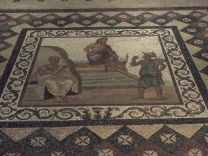 Mosaic Floor from a Roman House, Kos Museum, Dodecanese Islands, Greek Islands, Greece by David Beatty