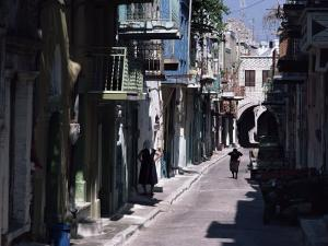 One of the Main Streets, Pyrgi, Chios (Khios), Greek Islands, Greece by David Beatty