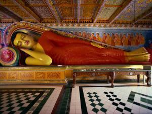 Recumbent Buddha in the Isurumuniya Temple, Anuradhapura, Sri Lanka by David Beatty