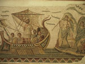 Roman Mosaic, Ulysses and Chant of Sirens, Bardo, Tunisia, North Africa, Africa by David Beatty