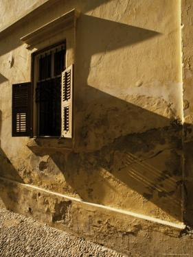 Shuttered Window of Old Mansion in Old City, Rhodes, Dodecanese Islands, Greece by David Beatty