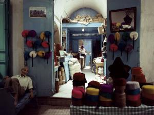 Souk Des Chechias, Medina, Tunis, Tunisia, North Africa, Africa by David Beatty