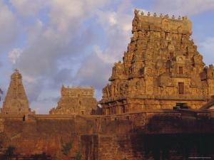 The Brihadeshwara (Brihadishwara) Temple, Built in 1000 AD, at Tanjore, Tamil Nadu, India by David Beatty