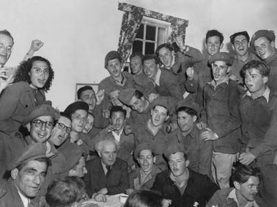 David Ben-Gurion, at a Jerusalem Camp of Soldiers of the Haganah, the Jewish Fighting Force