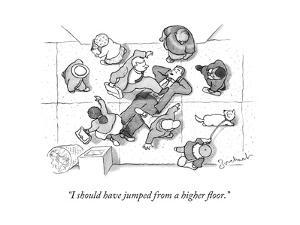 """""""I should have jumped from a higher floor."""" - New Yorker Cartoon by David Borchart"""