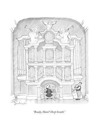 """Ready, Hans? Deep breath."" - New Yorker Cartoon"