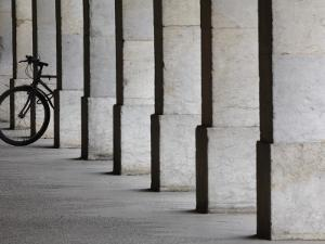 Bicycle Wheel in Arcade by David Borland