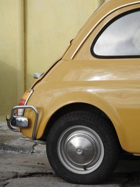 Yellow Fiat 500 Parked Against Wall, Gallipoli by David Borland