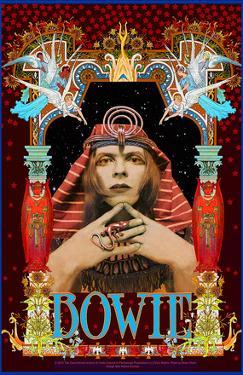 David Bowie Pharoah commemorative poster