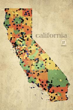 California County Map by David Bowman