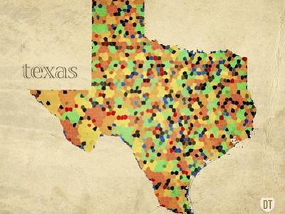 Texas County Map by David Bowman