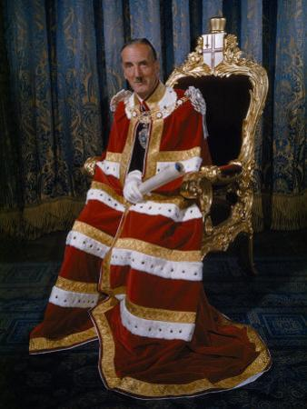 Lord Mayor of London Sits for a Portrait in His Coronation Robes by David Boyer