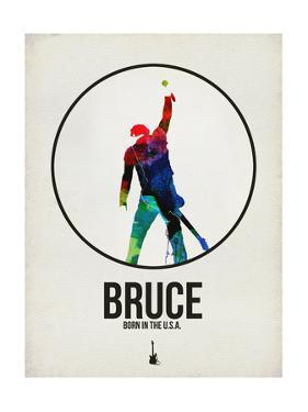 Bruce Watercolor by David Brodsky
