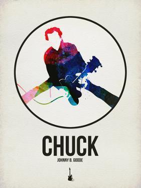 Chuck Watercolor by David Brodsky