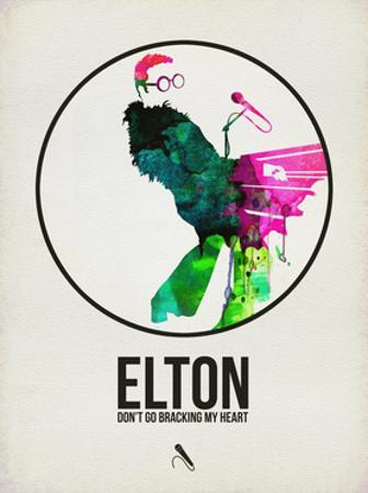 Elton Watercolor by David Brodsky