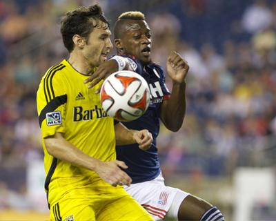 Jul 26, 2014 - MLS: Columbus Crew vs New England Revolution - Dimitry Imbongo, Michael Parkhurst