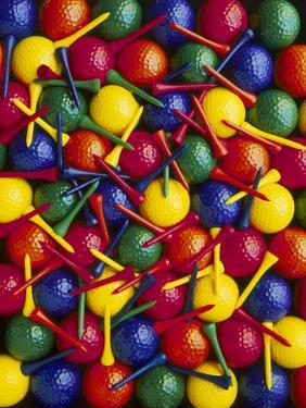 Colorful Golf Balls and Tees by David Carriere