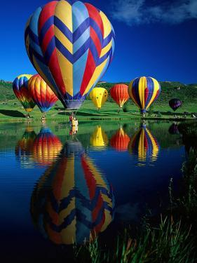 Hot Air Balloons, Snowmass CO by David Carriere