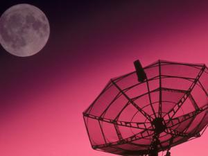 Satellite, Antenna, and Moon by David Carriere