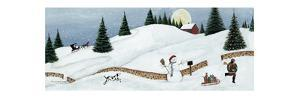 Christmas Valley Snowman by David Carter Brown