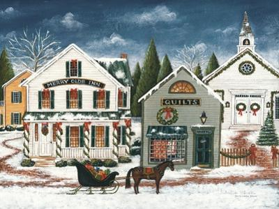 Christmas Village I Dark Crop by David Carter Brown