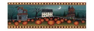 Halloween Eve Crescent Moon by David Carter Brown