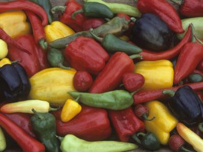 A Variety of Heirloom Sweet Peppers by David Cavagnaro