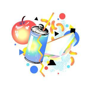 Apple and Drink Can by David Chestnutt