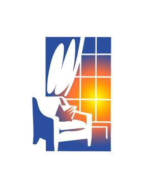 Armchair by Window by David Chestnutt