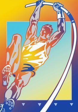 Athlete Pole Vaulting by David Chestnutt